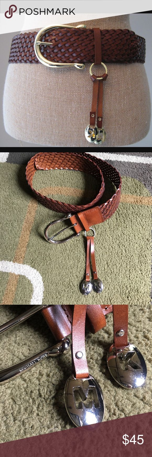 """Michael Kors belt Michael Kors woven style leather belt with silver hardware belt strap without buckle measures approx 40"""" Michael Kors Accessories Belts"""