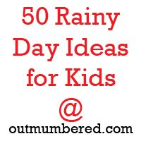 Rainy Day ideas from a blogger in Belfast, Northern Ireland!  She knows about rainy days!