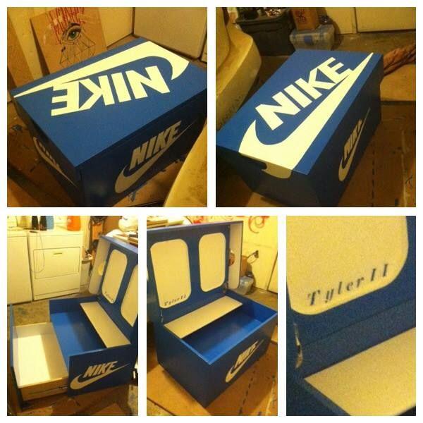 22 best images about nike box on pinterest storage boxes custom jordan shoes and cheap nike - Shoe box storage shelves ...