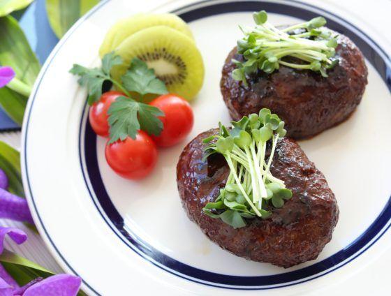 牛こま(牛細切れ肉・牛小間切れ肉)で作る簡単ハンバーグ