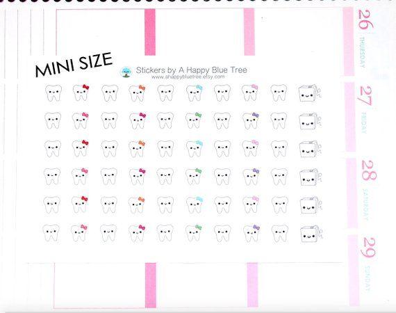 27 Dentist Appointment Planner Stickers for Erin Condren Happy Planner Kawaii