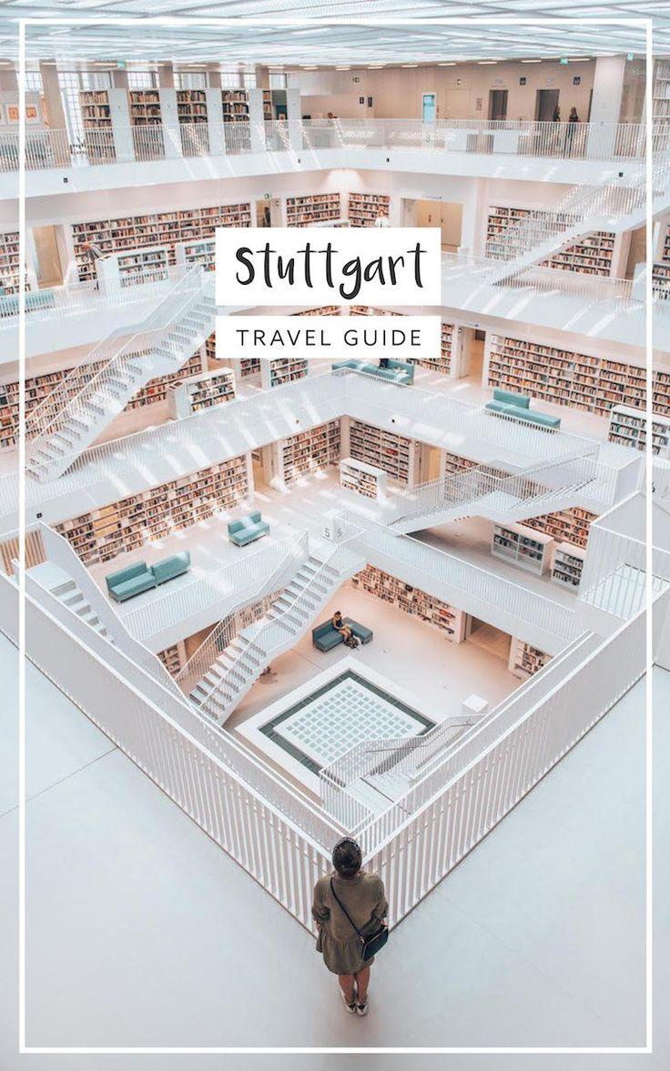 Stuttgart in Deutschland: die besten Reisetipps für Sehenswürdigkeiten, Ausblicke und Cafés. Inkl. Stadtbibliothek!
