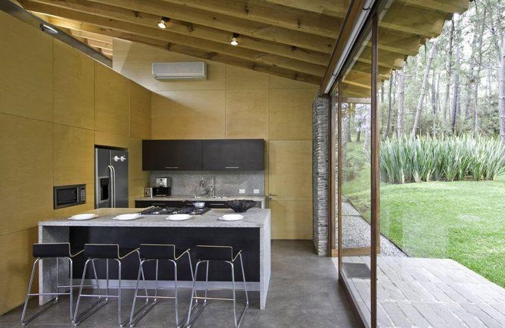 Cocina moderna de casa de campo