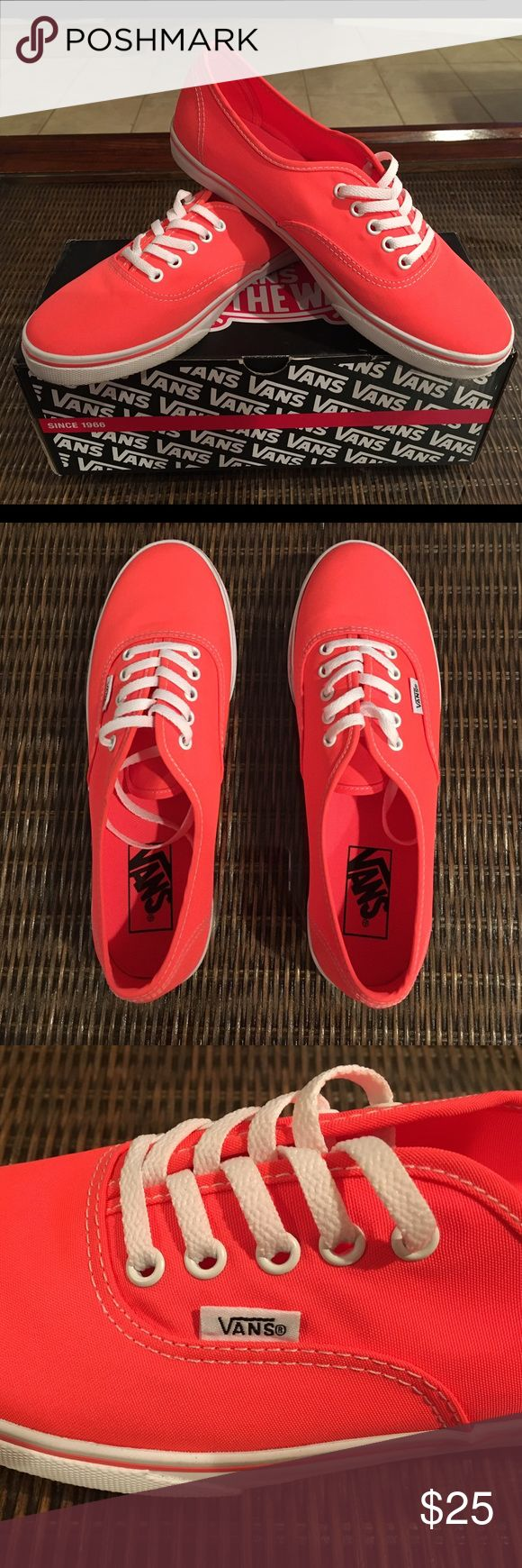 Coral Vans Worn once in great condition. Vans Shoes Sneakers
