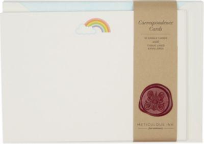 METICULOUS INK - Rainbow correspondence card set of 10 | Selfridges.com
