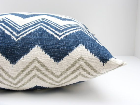 Lumbar Pillow Cover. Blue Gray. Missoni. ONE 12x16, 12x18, 16x20,