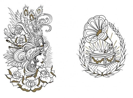 colouring book celebrates the art of the tattoo - The Tattoo Coloring Book