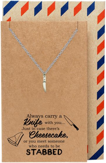 Maddox Best Friend Gifts Knife Necklace Funny Birthday Cards