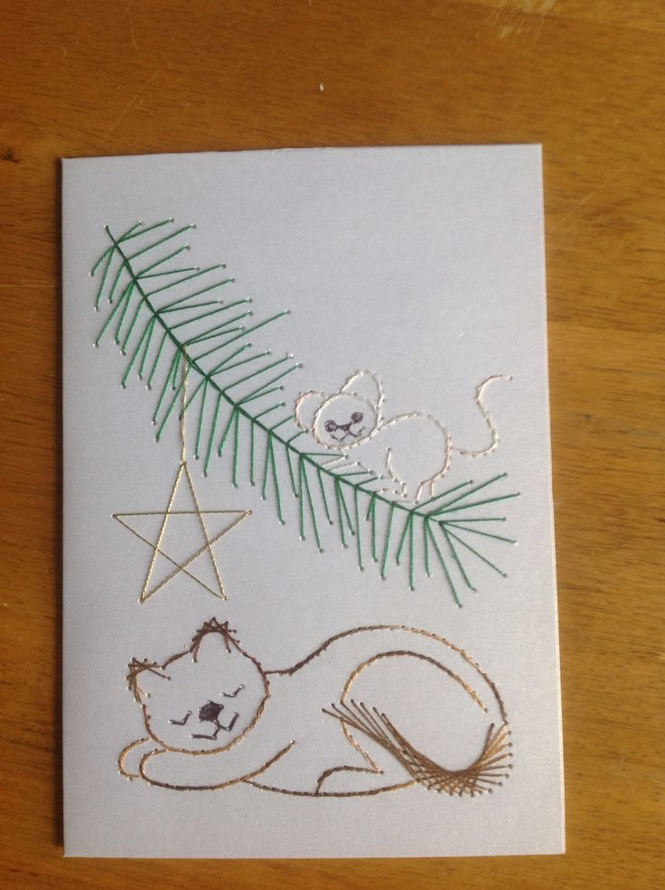 Christmas stitching card