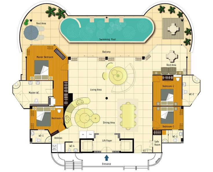 17 best images about architecture on pinterest mansion floor plans ground floor and monster house - Lay outs penthouse ...
