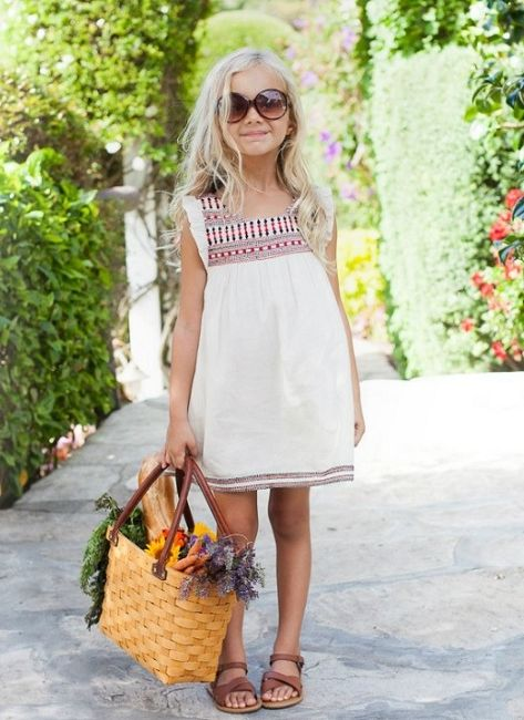 Cupcakes & Pastries Ivory/Red Embroidered Boho Slip Dress *Preorder*