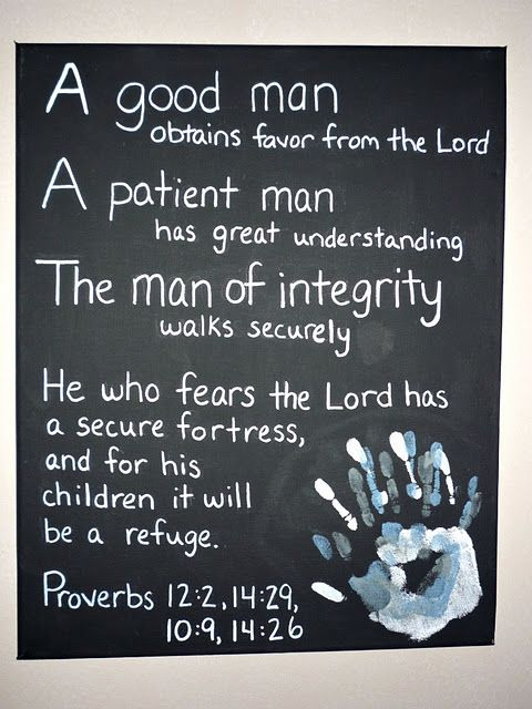 for a father- all children's handprints together...