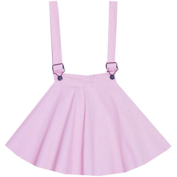 Bubblegum Lolita Overalls Dress Bonne Chance Collections ($47) ❤ liked on Polyvore featuring skirts, bottoms, dresses and bonne chance