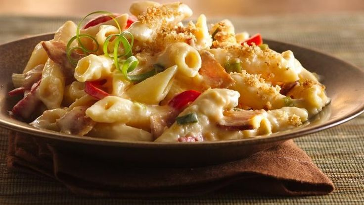 Enjoy this cheesy pasta casserole made using bacon, Gold Medal® flour and Progresso® bread crumbs - perfect for dinner.
