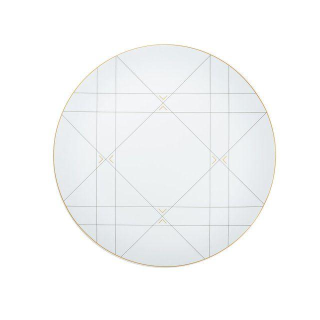 Un plat très graphique, Dior Home. Voici un exemple de graphisme chic et subtil chez Dior Home : un plat en cannage signé Véronique Taittinger.
