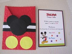 Modelos de tarjetas de invitación de Mickey Mouse - Imagui