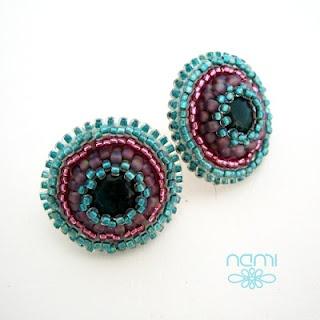 Okrągłe kolczyki II(Circular earrings II)   namiart.blogspot.com