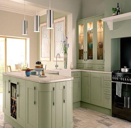 Wickes Tiverton Sage. Kitchen-compare.com - Home - Independent Kitchen Price Comparisons