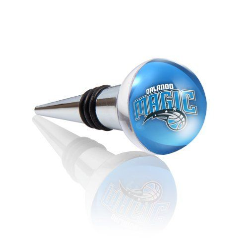 NBA Orlando Magic Team Bottle/Wine Stopper by IMAGIX. $17.08. NBA - IMAGIX Crystal Collectible bottle/wine stoppers are produced with water-clear, high refraction glass-crystal. Hand ground and polished, here artisanship is the result of attention to detail. Subject to high quality control standards, components are carefully inspected and assembled. Combined with high-resolution NBA Team logo graphic artwork, each becomes an attractive functional bar and beverage ute...