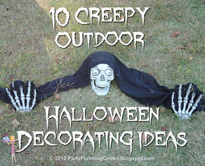 10 Creepy Outdoor Halloween Decorating Ideas~ Great ideas!