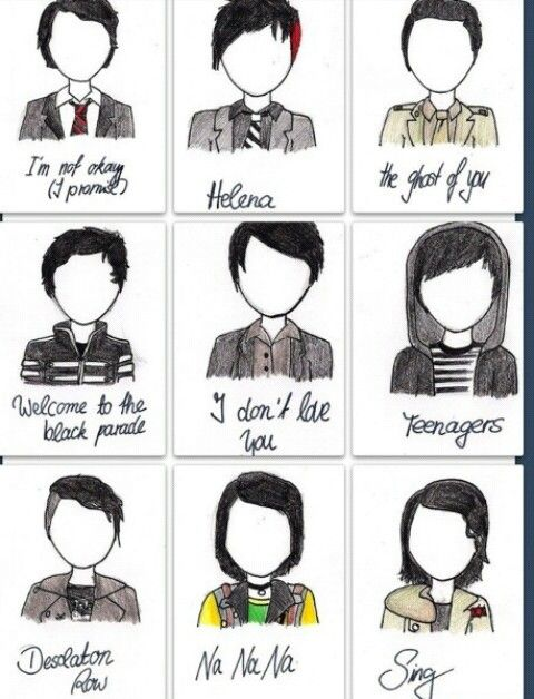 Frank Iero music vid looks. I think Helena and Teenagers are my favorites.//