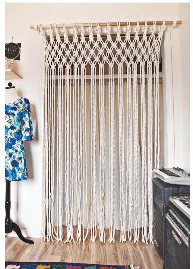 Multi Color String Curtain Fringe Panel Room Divider: 17 Best Images About Macrame Curtaines On Pinterest