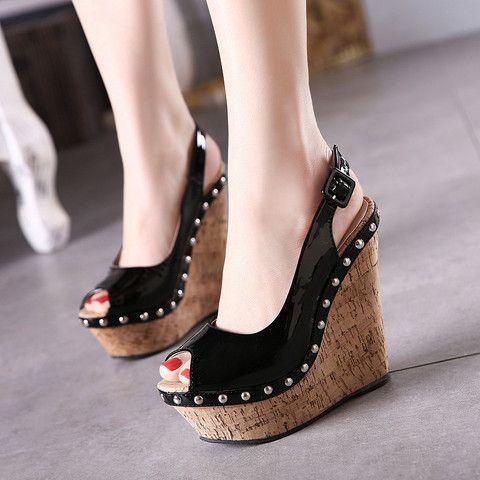 Fashion Womens Wedge High Heels Wedding Princess Sandals Platform Open Toe Shoes