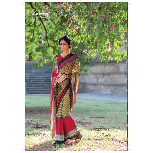 Buy our latest Multicoloured Georgette Saree for your especial occasion like casual, daily, #officewear_saree at very reasonable prices which will be suit with your budget. E-mail Us : info@laxmipati.com