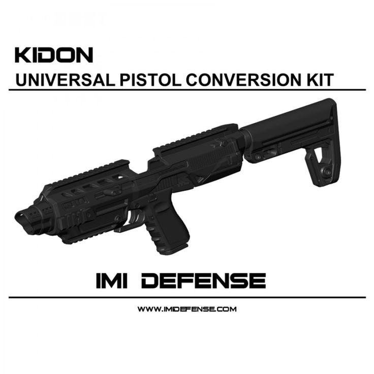 IMI Defense KIDON Innovative Pistol to Carbine Platform for CZ 75 Duty, CZ 75 With Rails, CZ SP-01 Shadow