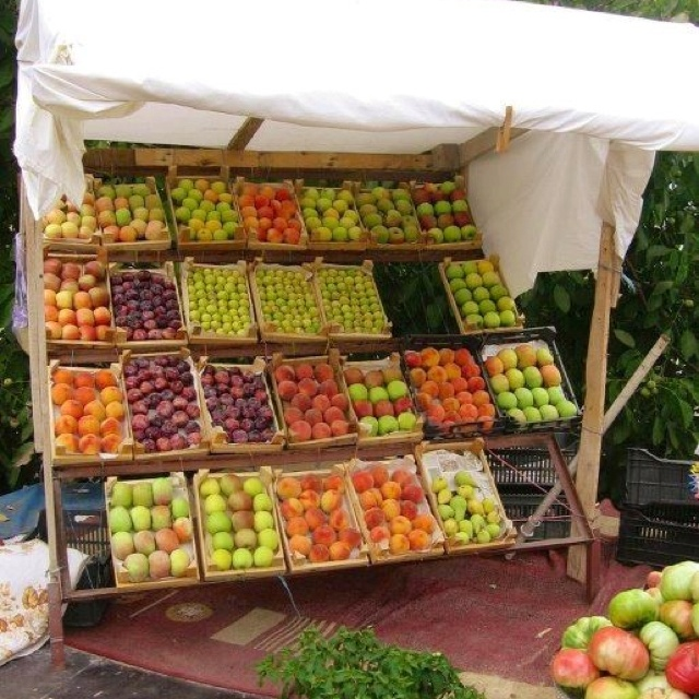 Fruit stand in Lebanon....see the love!
