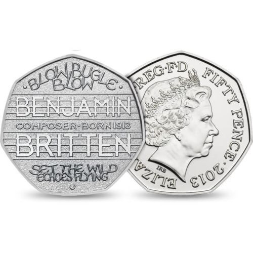 Benjamin #britten 50p #fifty #pence rare 2013 coin - excellent circulated conditi,  View more on the LINK: 	http://www.zeppy.io/product/gb/2/332004066139/