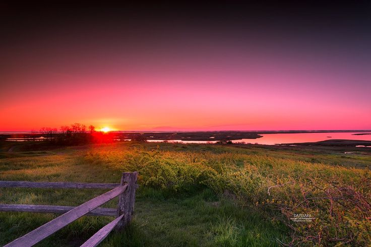 Melodramatic sunrise today from Cape Cod National Seashore. Photo of the day by Cape Cod artist Dapixara https://dapixara.com
