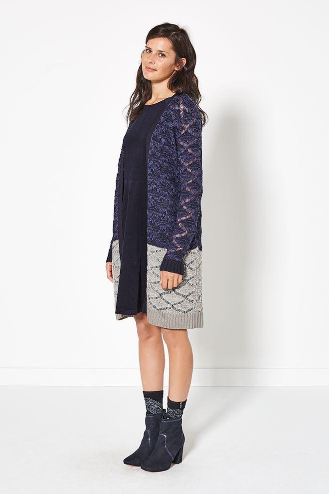 Glamping | Fashion | Cardigan | Blue | Grey | Dres | Lookbook