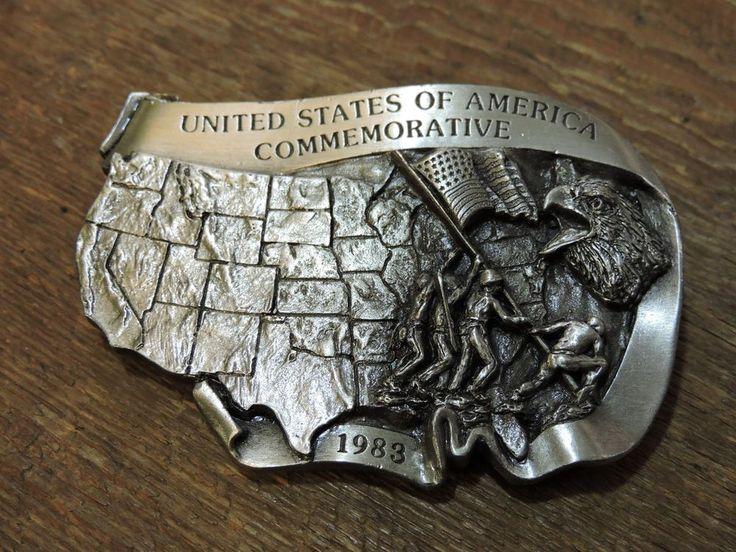 Vintage UNITED STATES AMERICA COMMERATIVE Arroyo Grande Buckle Co Belt Buckle #ArroyoGrandeBuckleCo