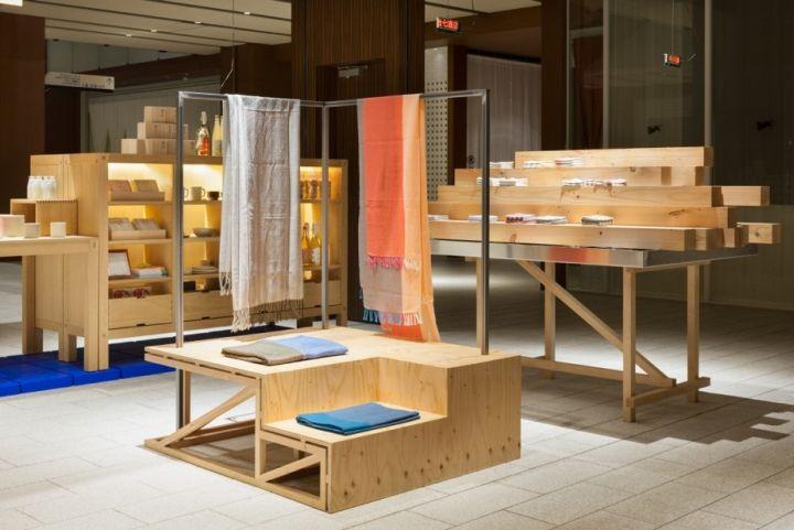 Креативный дизайн интерьера магазина Nakagawa Masamichi в Токио