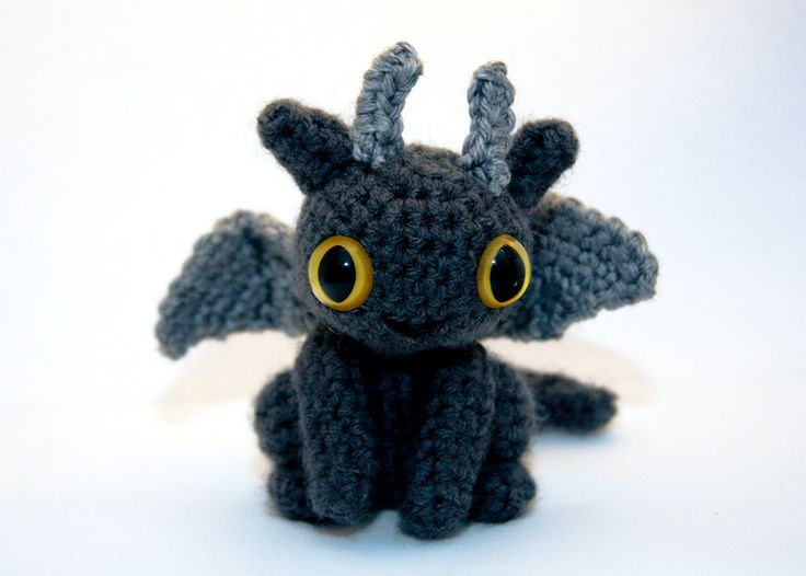 Free Crochet Pattern For Toothless The Dragon  SquareOne for