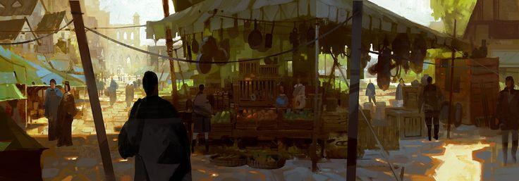 ArtStation - GuildWars 2 Commoners Market, Thomas Scholes