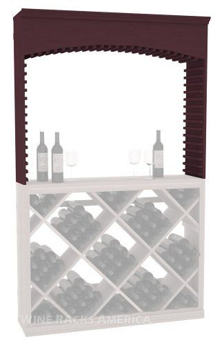 """Five Star Series: Arch for Wine Archway Wine Cellar Rack in Pine with Burgundy Stain by Wine Racks America®. $820.52. Some assembly required. Designed to be installed under theArch for Wine Archway. Made from eco-friendly wood sources in sustainable forests. 11/16"""" wood thickness. Money Back Guarantee + Lifetime Warranty. The Five Star Series Diamond Wine Bin for Archway is one of the most popular choices in bulk storage. Our Diamond Bins compliment any of our mo..."""