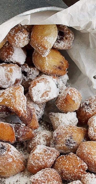 Baby Blueberry Beignets - Seasons and Suppers
