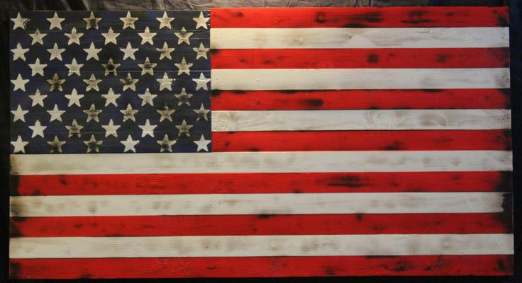 A personal favorite from my Etsy shop https://www.etsy.com/listing/524872841/charred-wood-american-flag