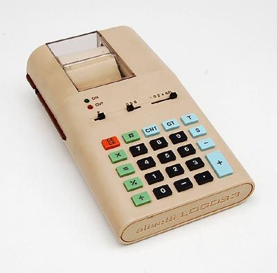 Oligetti Logos 3 electronic calculator designed by Ettore Sottsass, Italy.