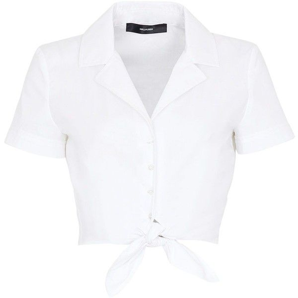 Cropped White Collared Shirt | Is Shirt