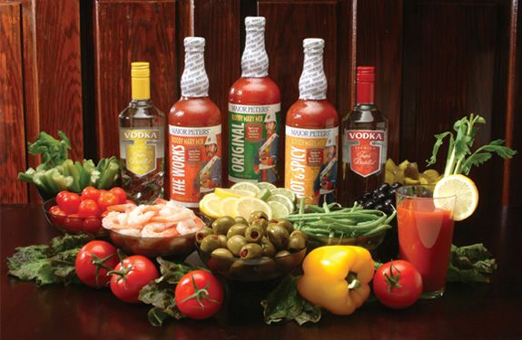 Picture of completed Bloody Mary Bar