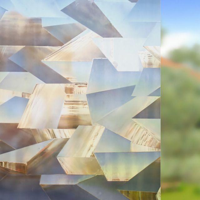 Rabbitgoo® Film pour Vitre 3D Décoratif Film Electrostatique Moderne Film Adhési