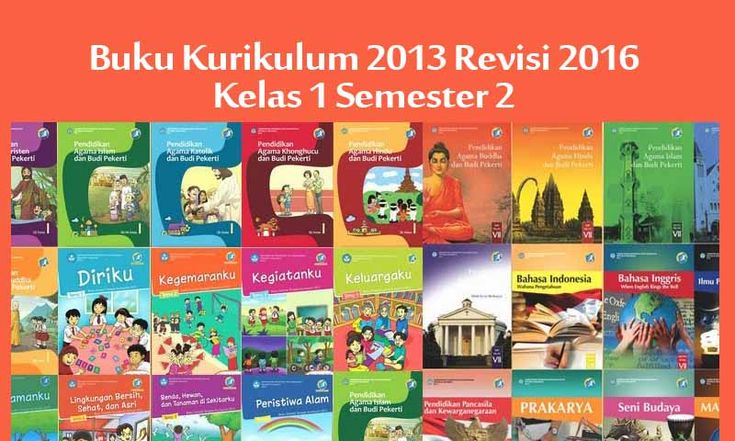 Buku Kurikulum 2013 Kelas 1 SD Revisi 2016 Semester 2 New Versi