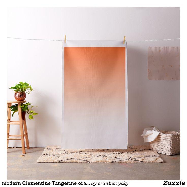 modern Clementine Tangerine orange ombre Fabric