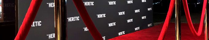 The Heretic Red Carpet Movie Premiere Installation - Red Carpet Systems - more Premiere services http://www.redcarpetsystems.com/movie-premieres-in-los-angeles-nyc/