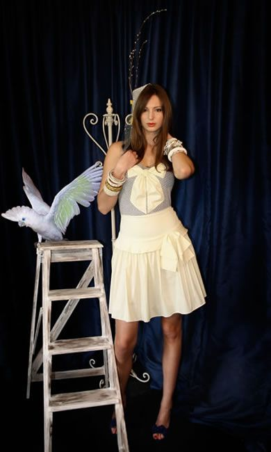 Bow-Peep Singlet, I Want To Be A Sailor Skirt - Buttercup