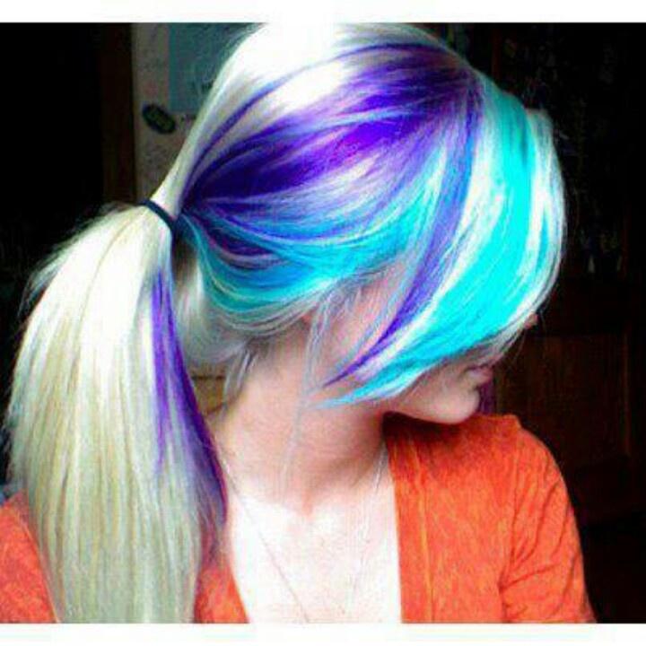 7 Best Hair Styles Images On Pinterest Colourful Hair Hair Color