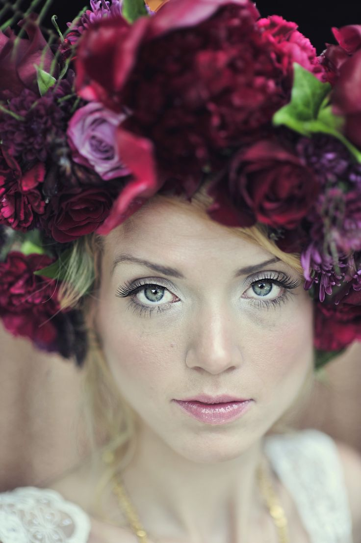 We LOVE oversized floral headpieces for a bohemian bride.